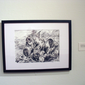 Lion Hunt (after Daubigny after Delacroix)
